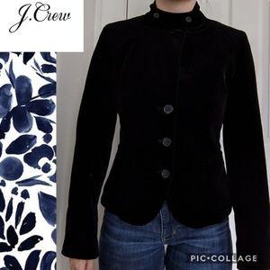 J. Crew Military Collar Onyx Velvet Blazer Small 4